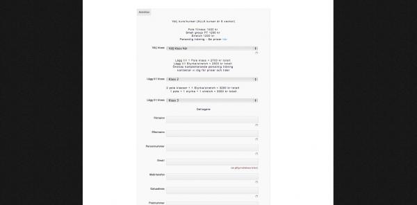 FLOWsthlm - Anmälningsformulär